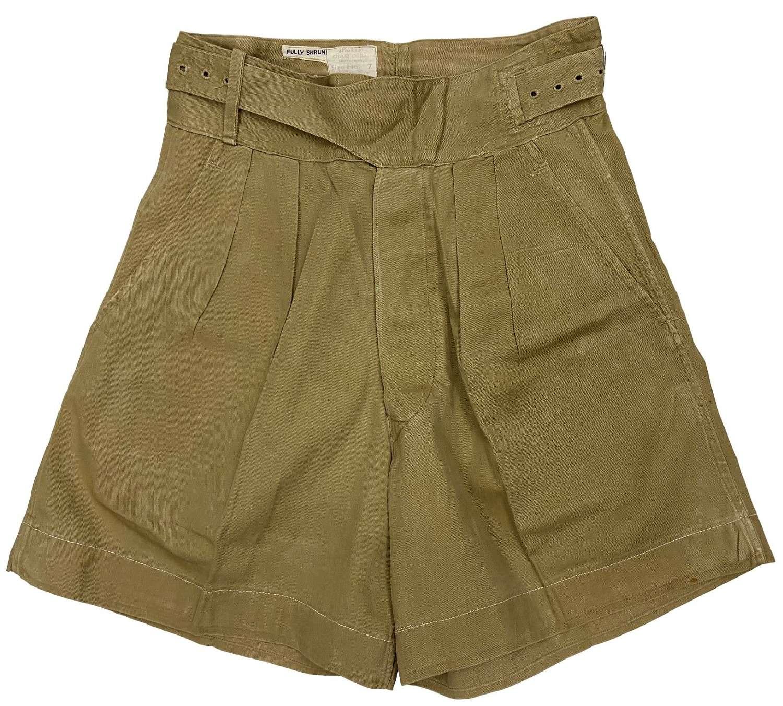 Original 1955 Dated 1949 Pattern Khaki Drill Shorts