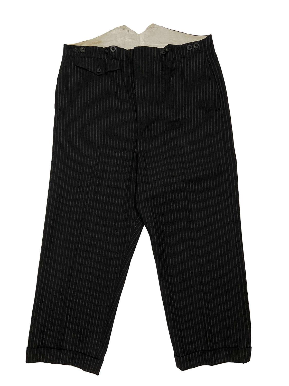 Original 1940s Men's Pinstriped Trousers - 38x27