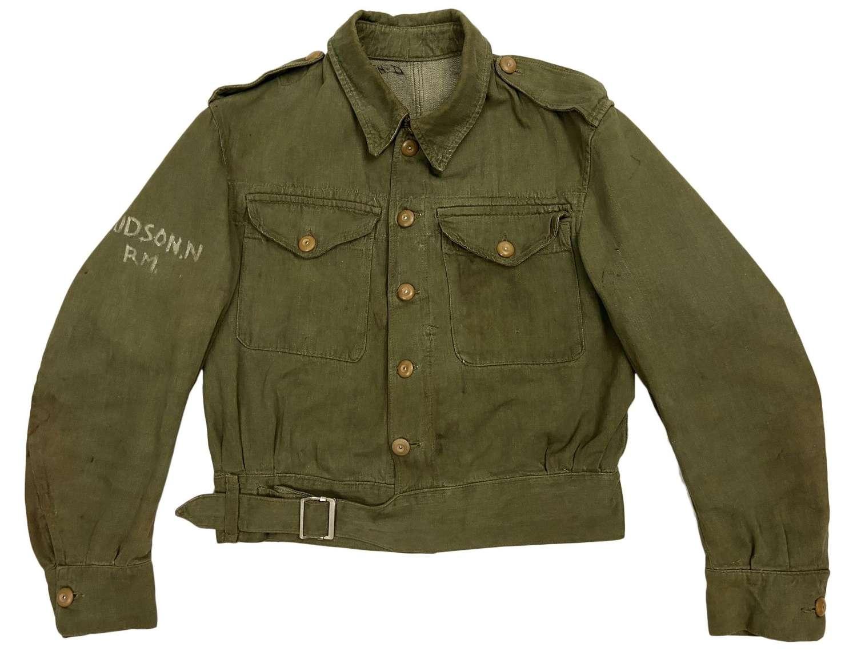 Original 1950s British Denim Battledress Jacket - Royal Marines