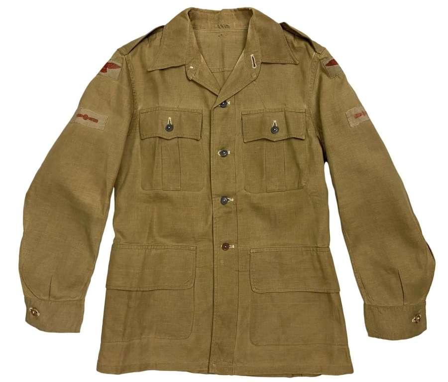 Original WW2 RAF Khaki Drill Aertex Bush Jacket - LAC