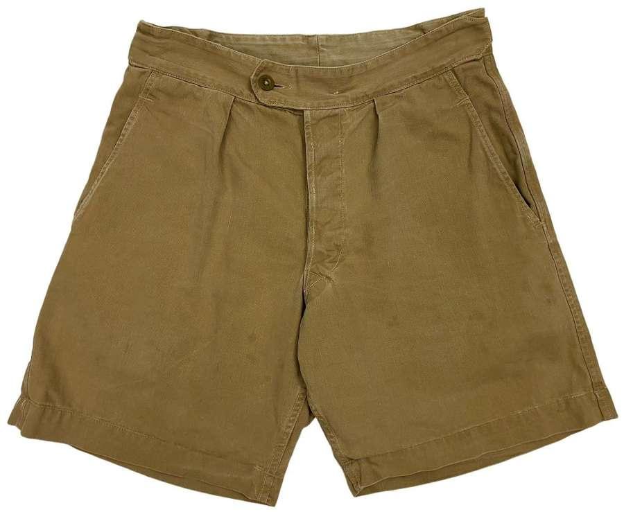 Original 1960s RAF Combination Suit Khaki Drill Shorts