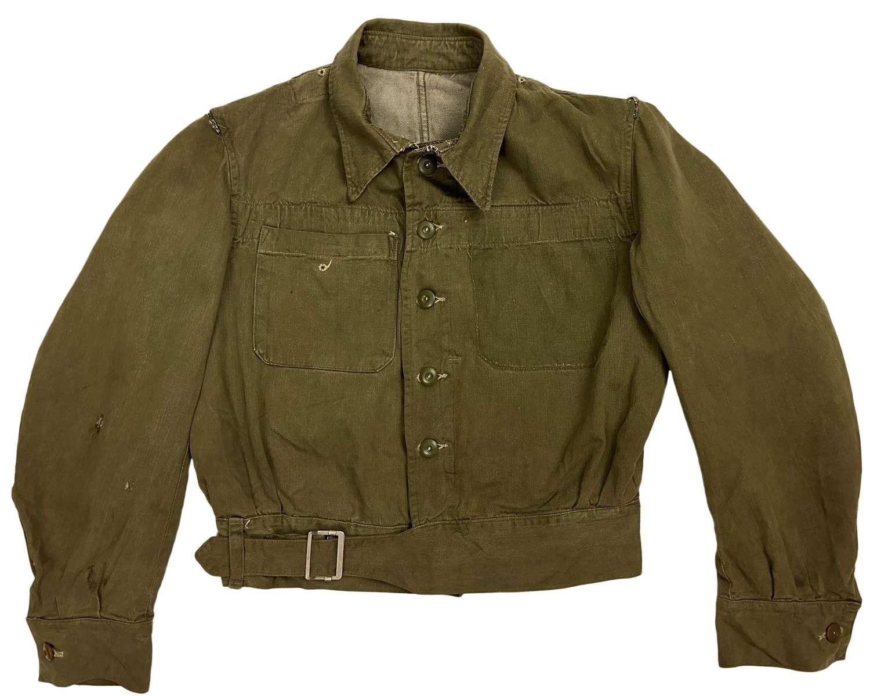 Original 1955 Dated British Denim Battledress Jacket - Converted