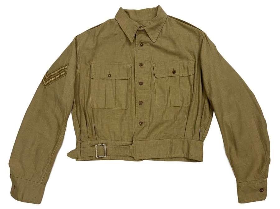 Original 1943 Dated Indian Made British Aertex Battledress Jacket