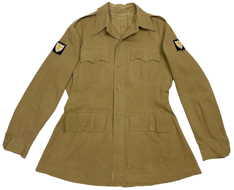 Original WW2 British Army Officers Khaki Drill Tunic - 1st Army