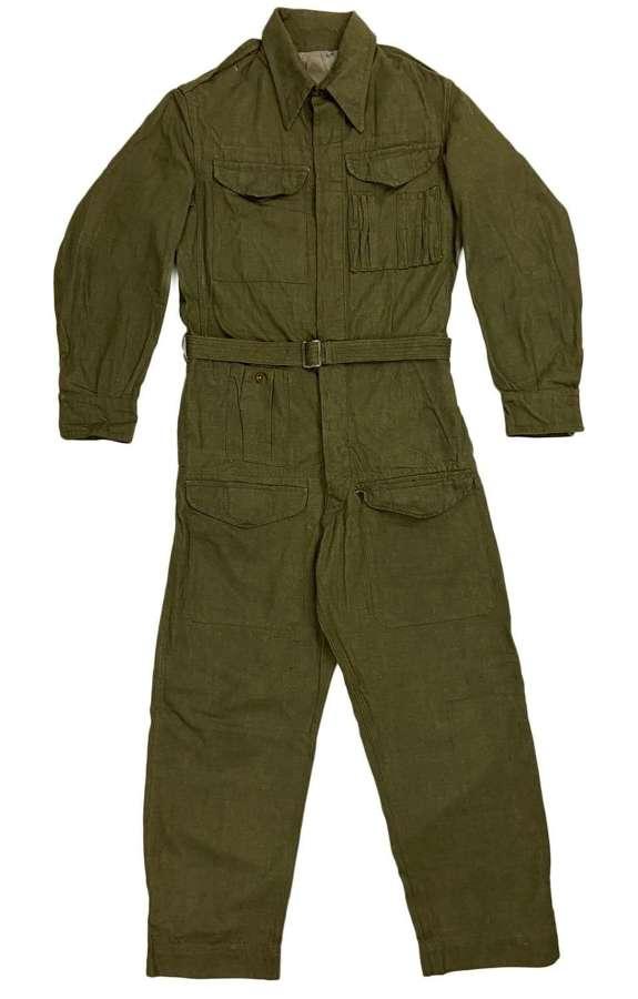 Rare original 1955 Dated British Army Denim Tank Suit