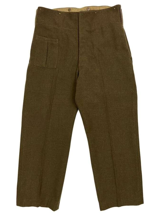 Original 1943 Dated New Zealand made Battledress Trousers