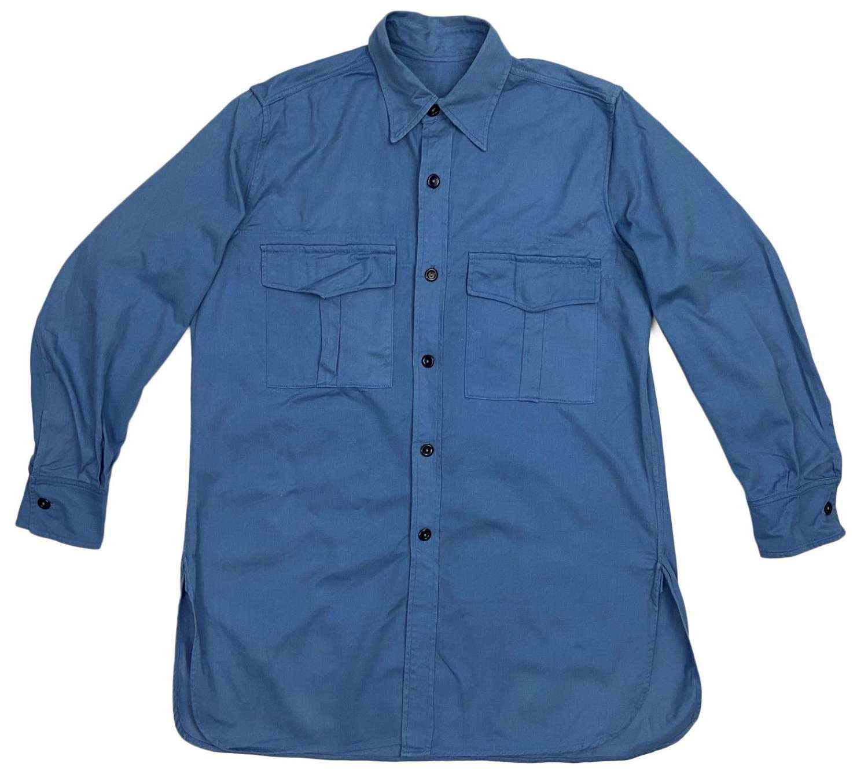 Original 1960s Royal Navy Action Working Dress Shirt - Size 15 1/2