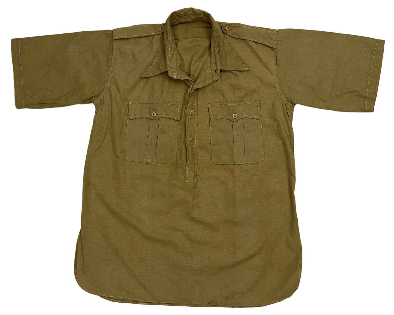 Original WW2 British Officers Khaki Drill Aertex Shirt