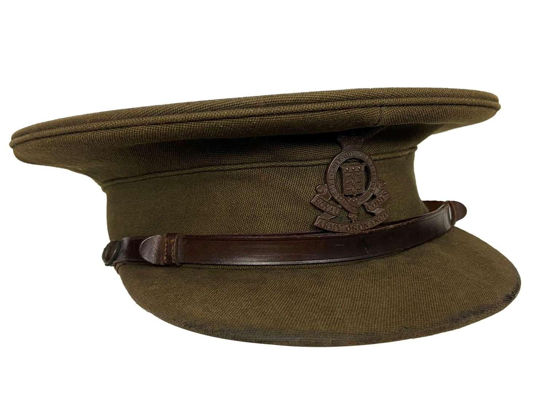 Original Inter-war Royal Army Ordnance Corps Officers Peaked Cap