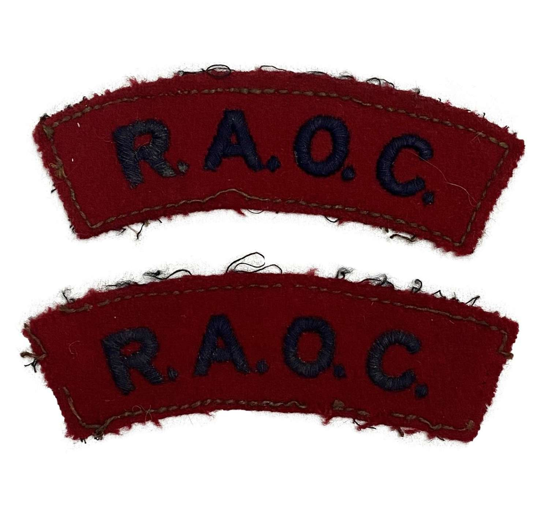 Original Royal Army Ordnance Corps Shoulder Titles