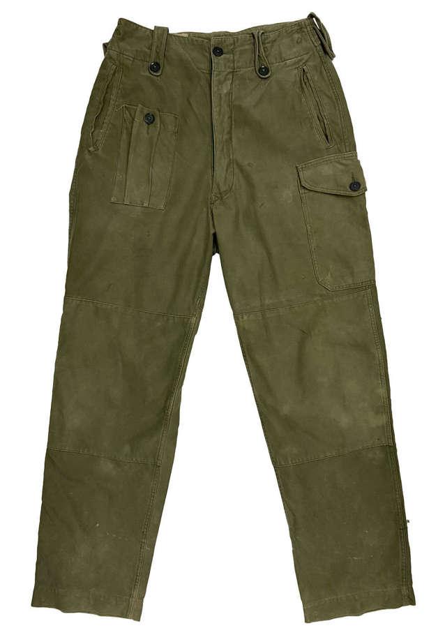 Original late 1960s British Army 1960 Pattern Combat Trousers - Size 4