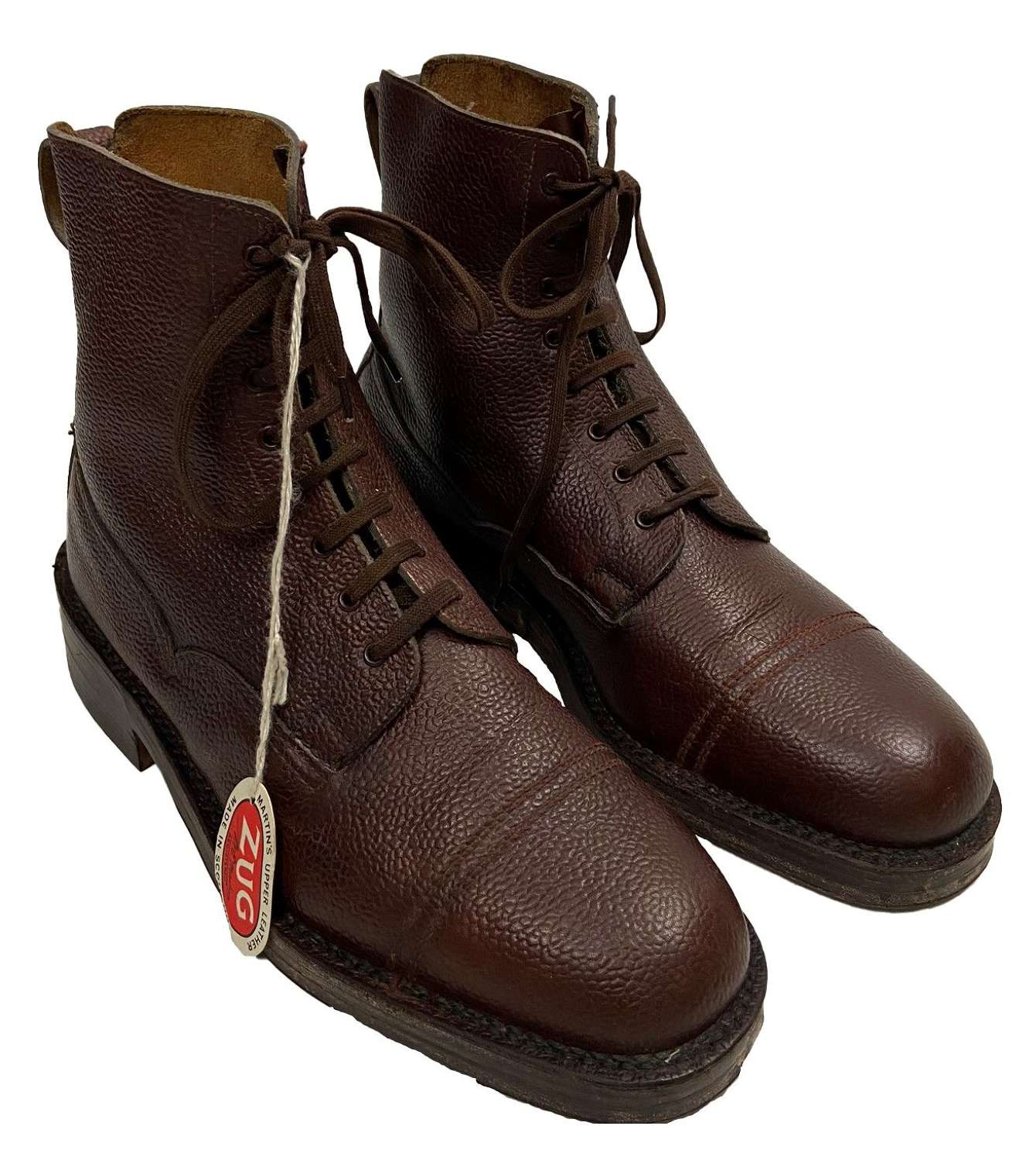 Original 1950s Veldtschoen Brown Leather Ankle Boots by 'George Webb'