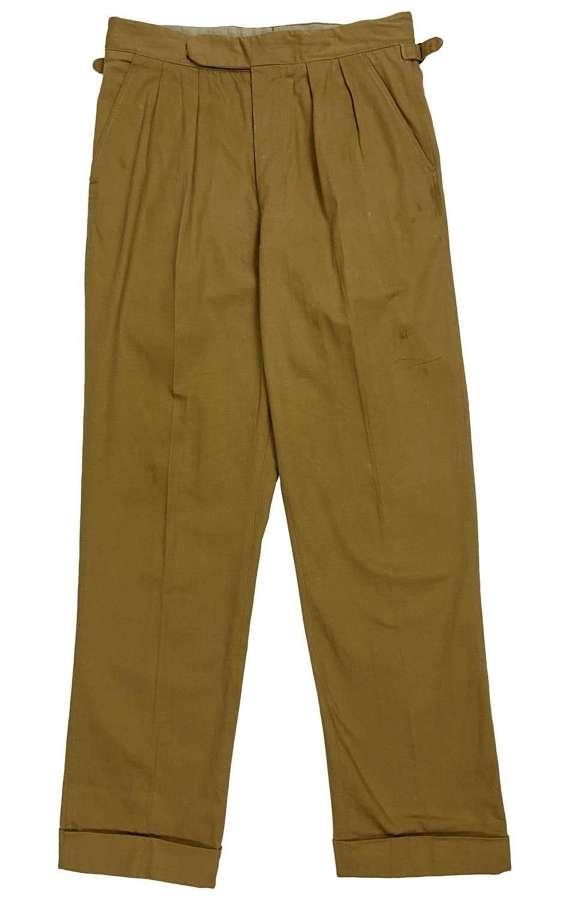 Original 1960s British Khaki Drill Trousers