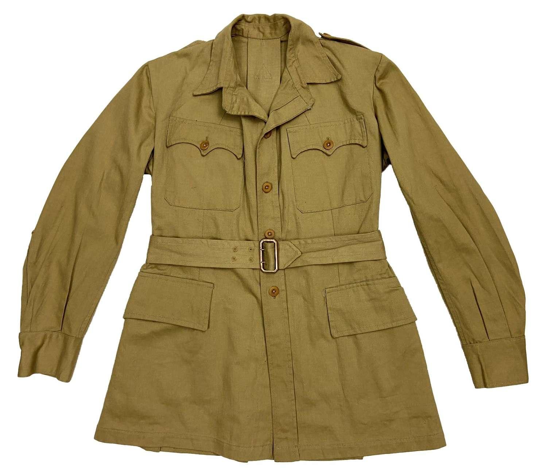 Original 1940s British Khaki Drill Bush Jacket