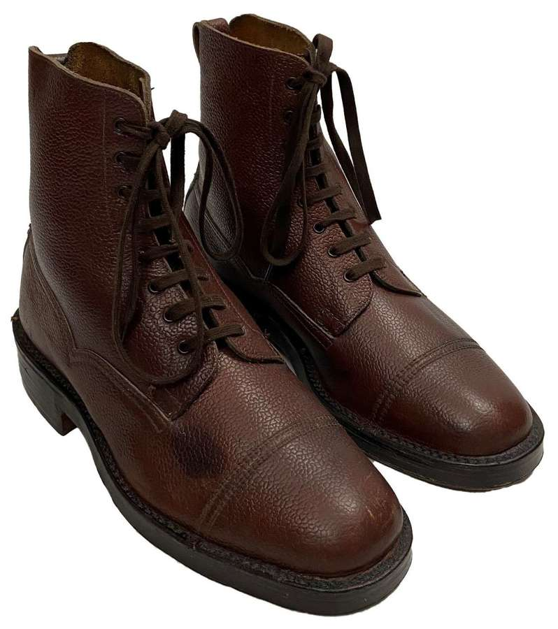Original 1950s VeldtSchoen Brown Leather Boots by 'John Brocklehurst'