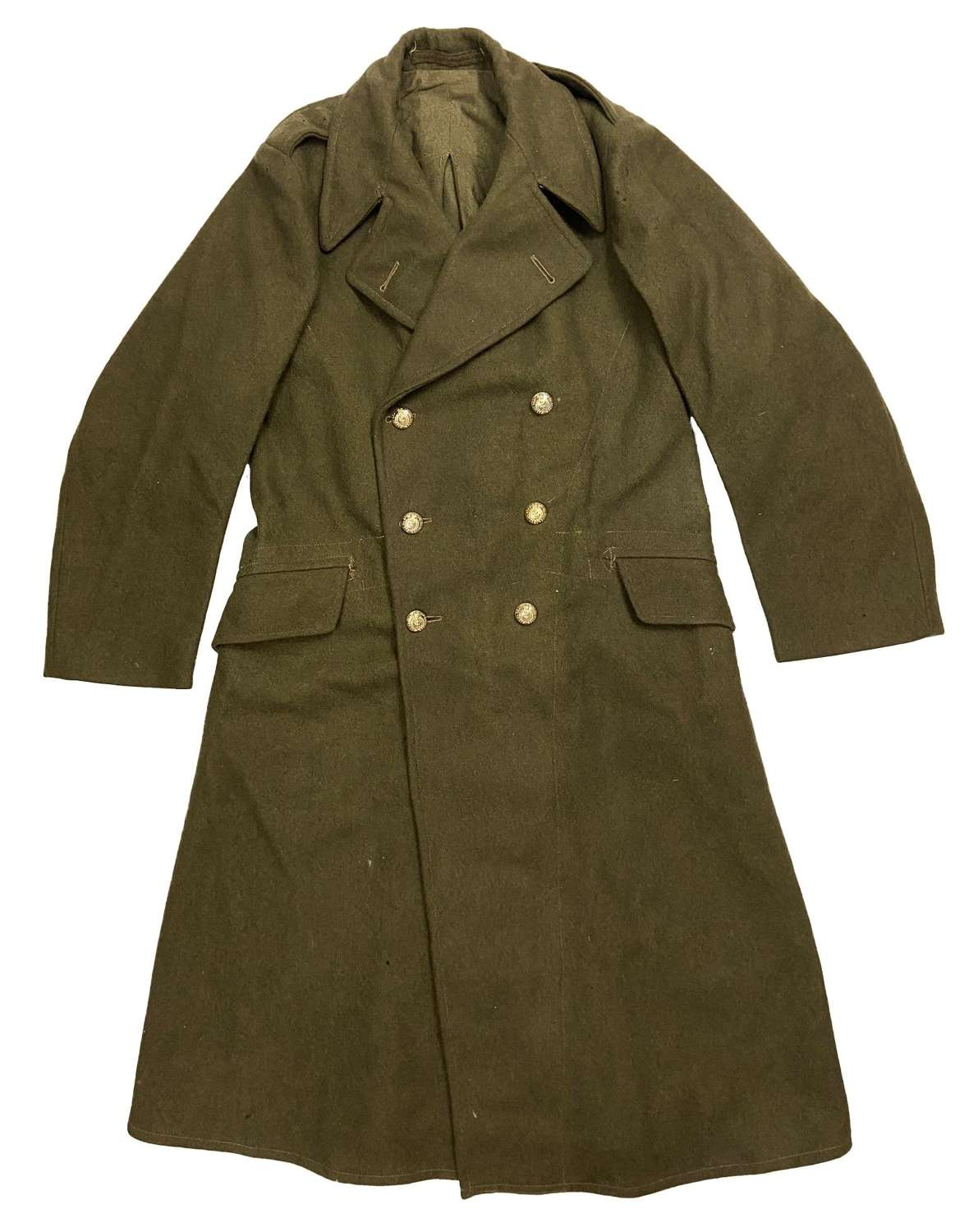 Original 1951 Dated 1940 Pattern Dismounted Greatcoat - Large size 10