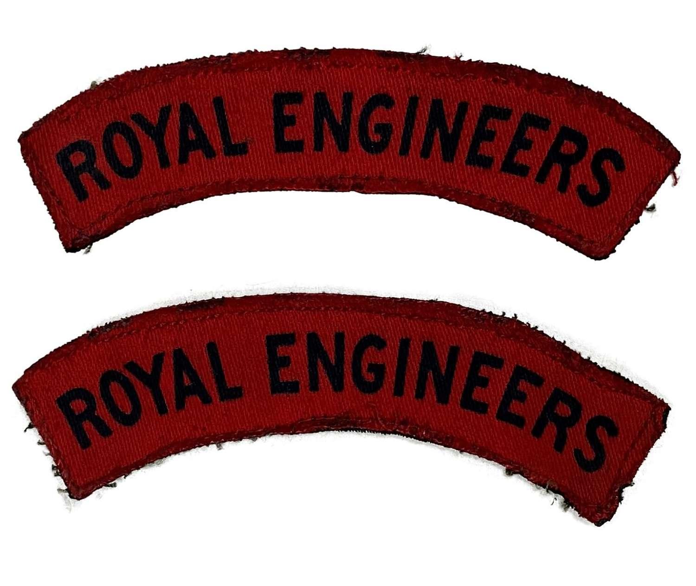 Original WW2 Royal Engineers Printed Economy Shoulder Titles