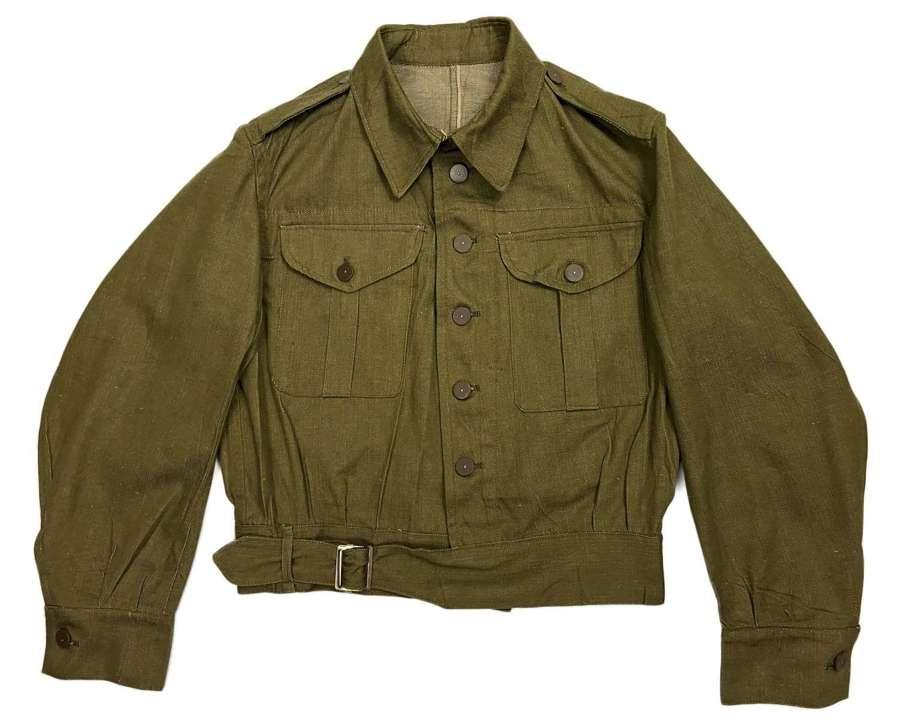 Original 1941 Dated British Army 1st Pattern Denim Battledress Blouse