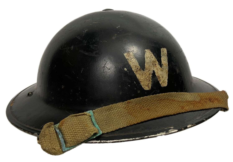 Original British MKII Warden's Helmet with 1938 Dated Liner