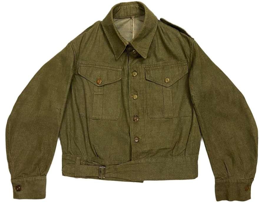 Original 1941 Dated First Pattern Denim Battledress Blouse - Size 6