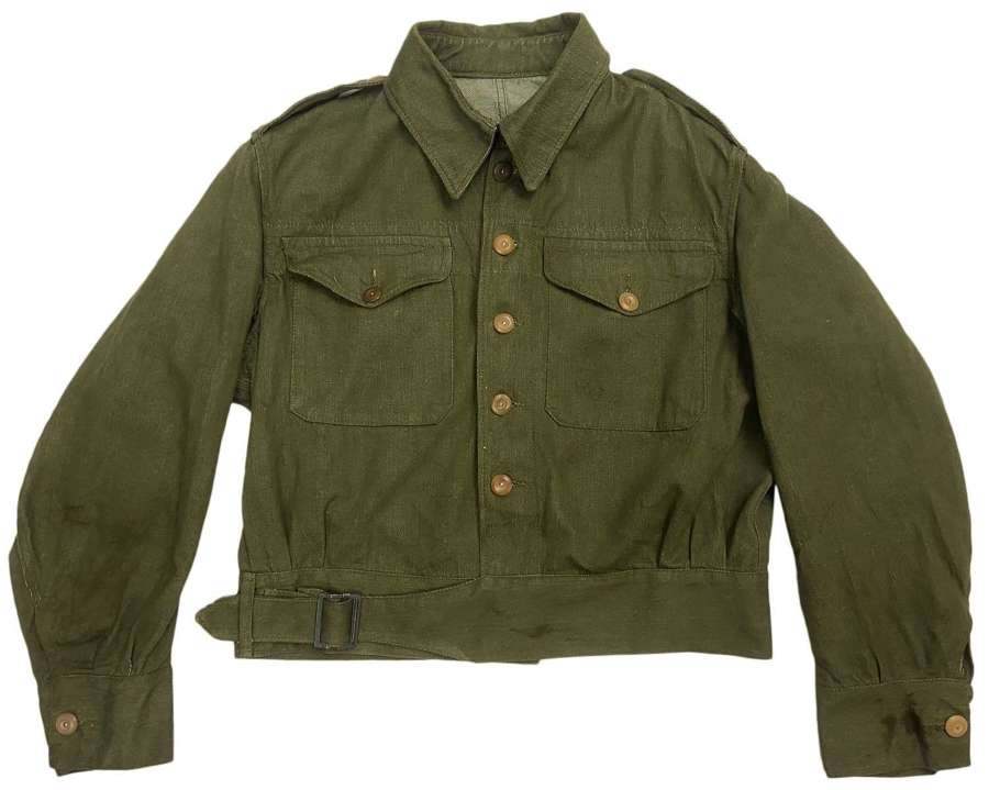 Original 1955 Dated British Army Denim Battledress Blouse - Size 4