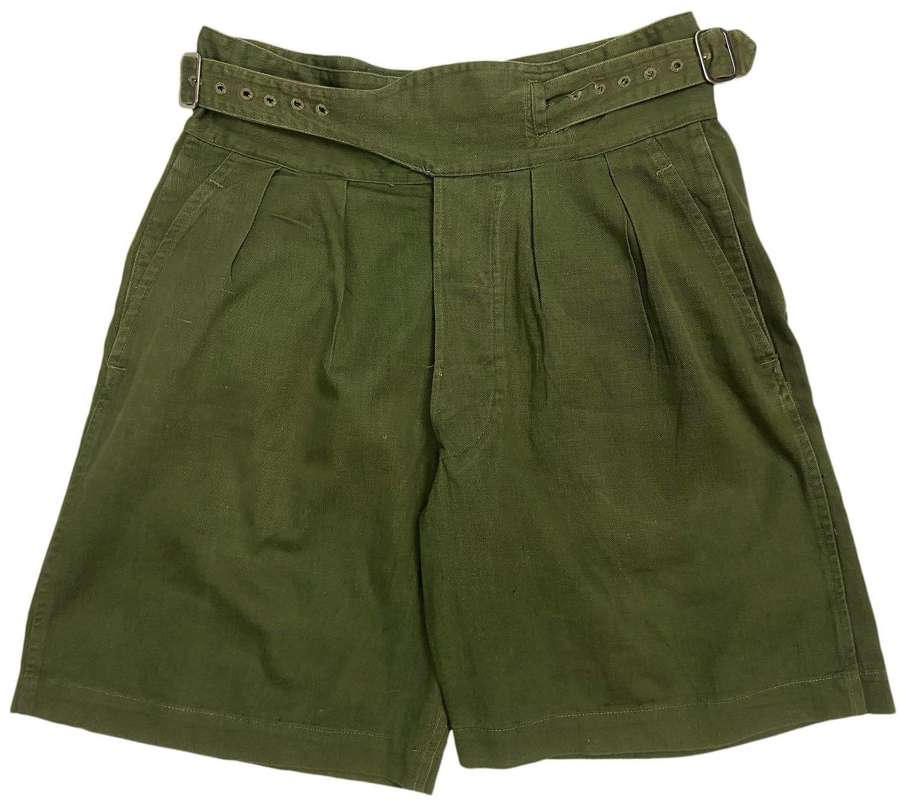 Original 1952 Dated 1950 Pattern Jungle Green Shorts - Size 4