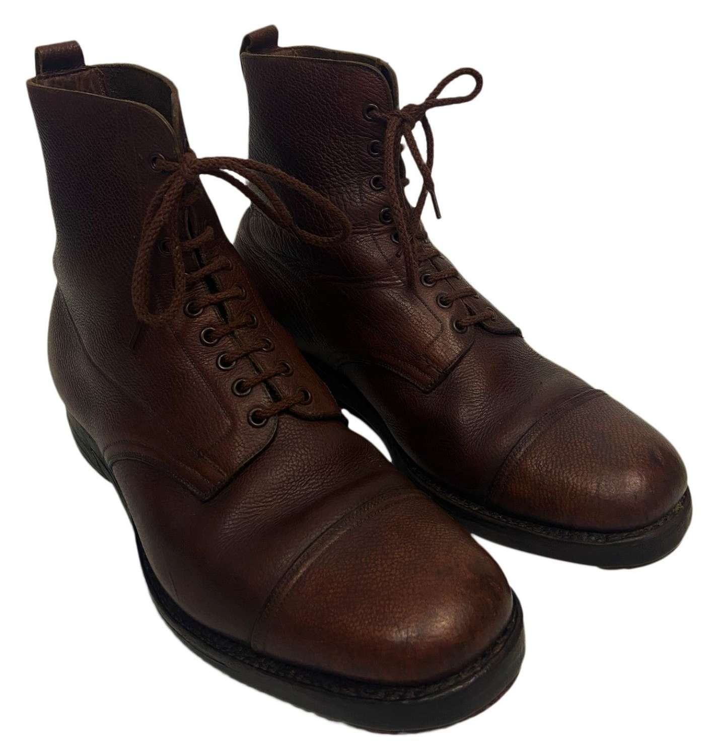 Original WW2 British Army Officers Brown Ankle Boots