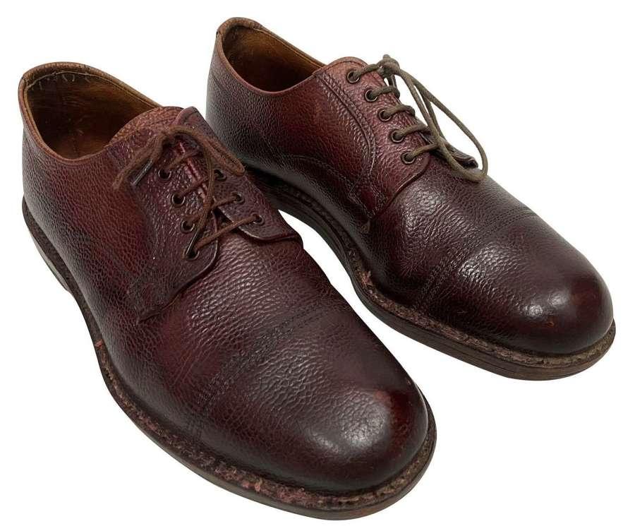 Original 1950s Men's Veldtschoen Brown Leather Shoes - Size 8