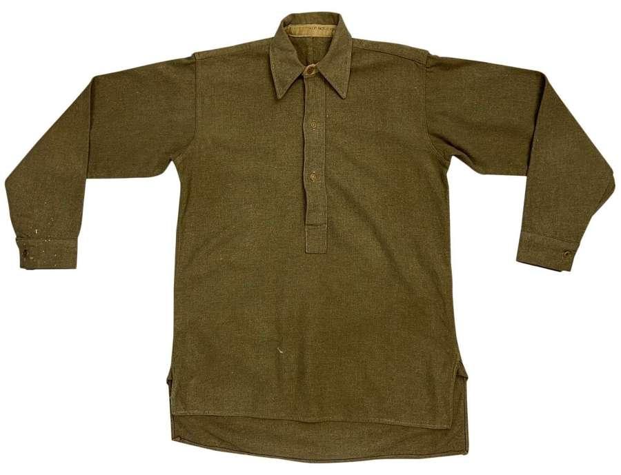 Original Late WW2 British Army Ordinary Ranks Collared Shirt