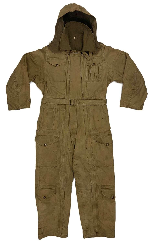 Rare Original 1944 Dated British Army Winter Tank Suit - Size 4 + Hood