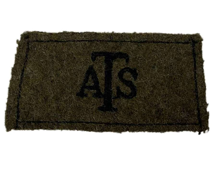 Original WW2 Auxiliary Territorial Service Slip-on Shoulder Title