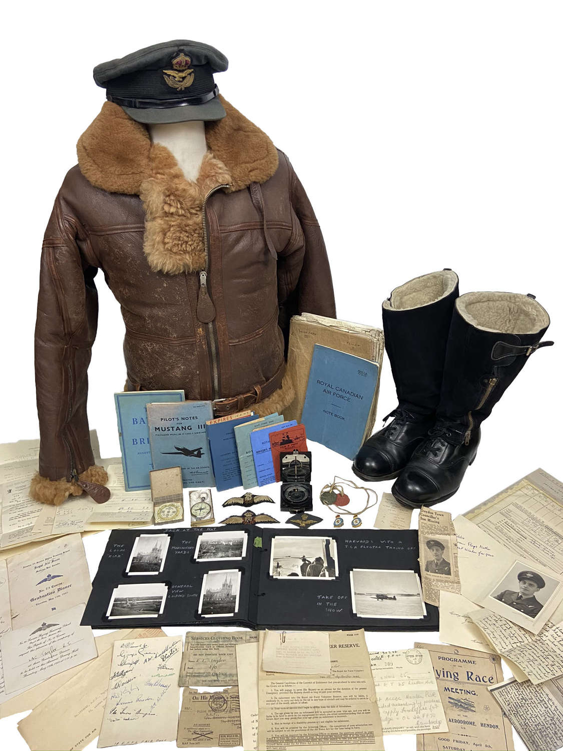 Incredible WW2 RAF Pilot Uniform and Paperwork Grouping - 234 Squadron