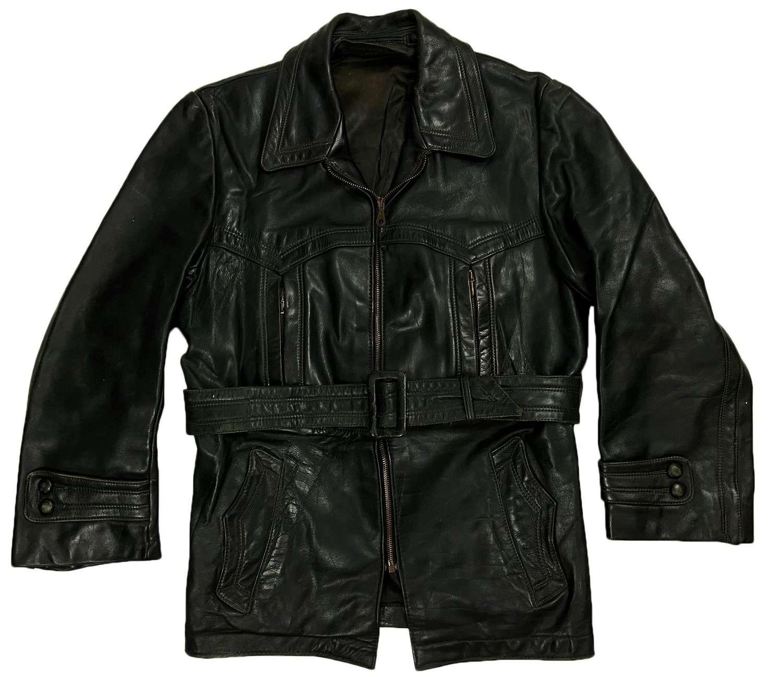 Original 1950s European Green Leather Jacket