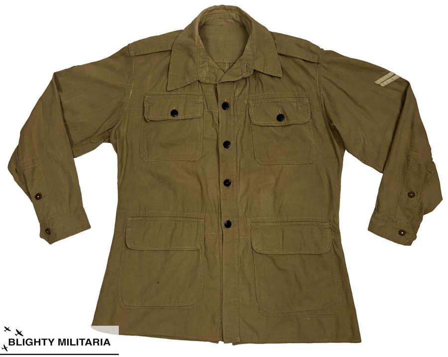 Original WW2 RAF Khaki Drill Bush Shirt Jacket - Size 3