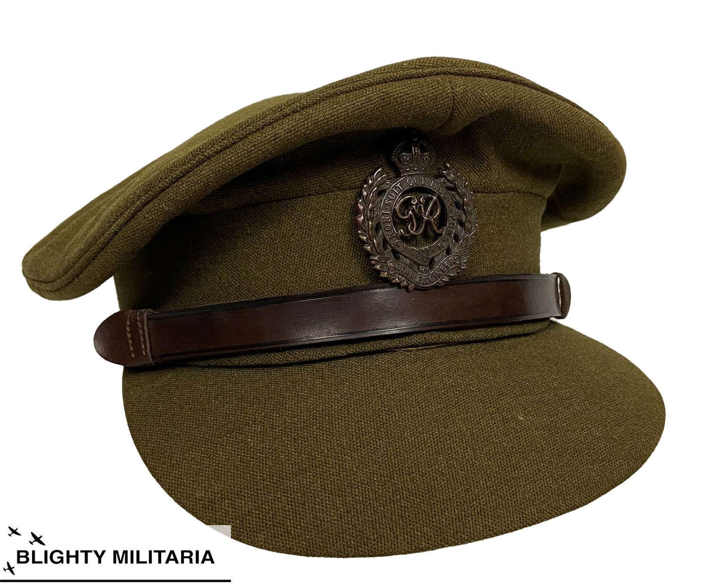 Original WW2 Royal Engineers Officers Peak Cap by 'Gieves'
