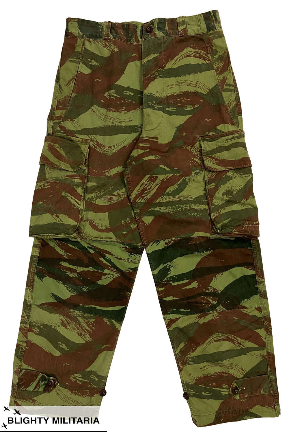Original 1950s French Army M47 TAP Lizard Camouflage Trousers