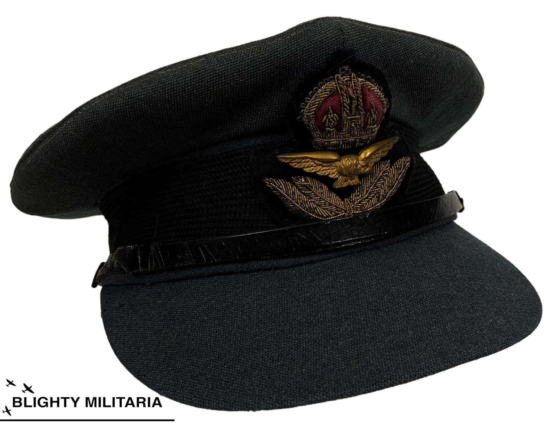 Original WW2 RAF Officers Peaked Cap by 'Burberry'