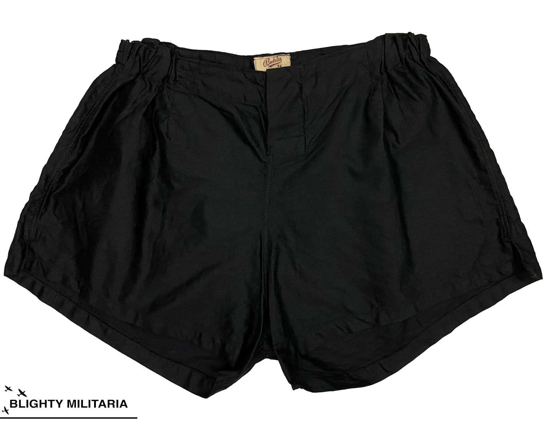 Original 1940s Black Sports Shorts by 'Bukta' - Size 36