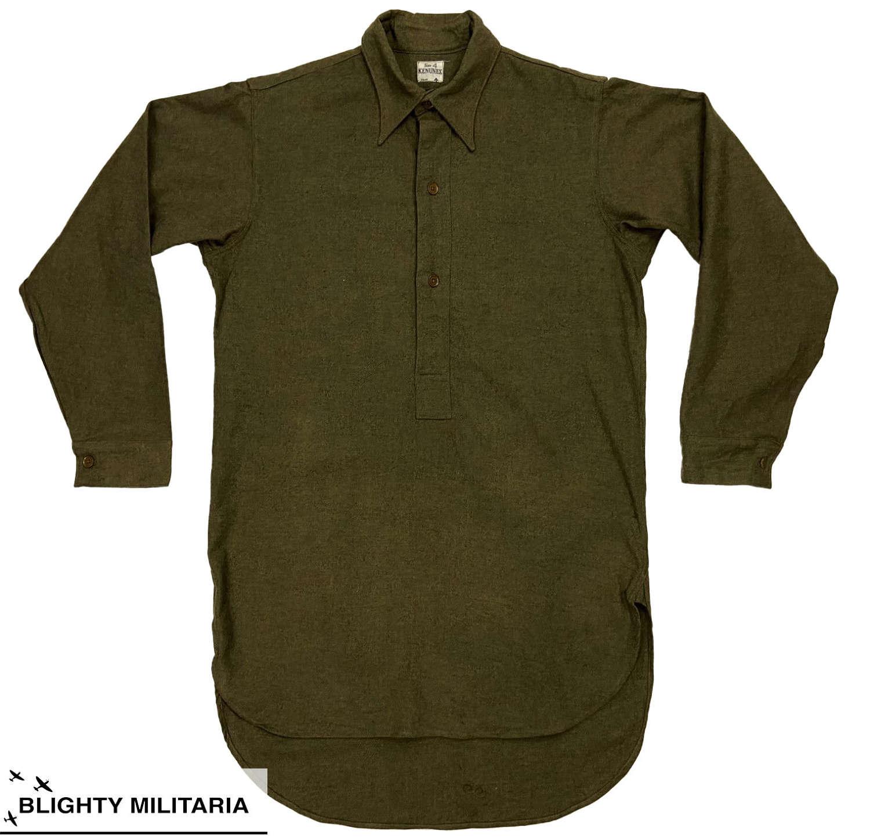 Original 1948 Dated British Army Ordinary Ranks Shirt by 'Kenunex'