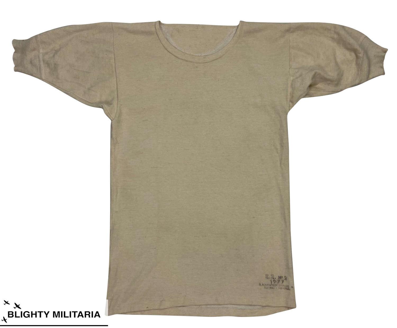 Original 1977 Dated Greek Military Wool Undershirt