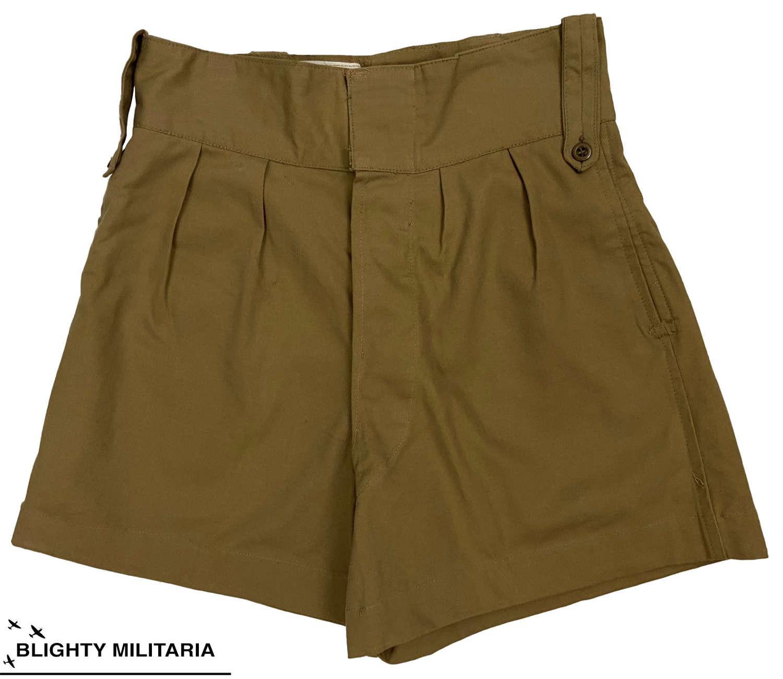 Original 1950s Royal Marines Khaki Drill Shorts - Size 2