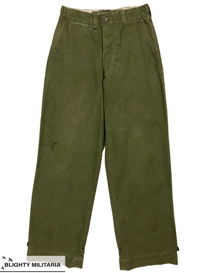 Original 1951 Dated US Army M43 Combat Trousers - Size 30x32