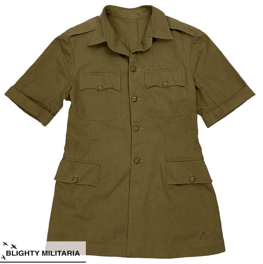 Original British Khaki Drill Bush Jacket - S M Shah, Aden