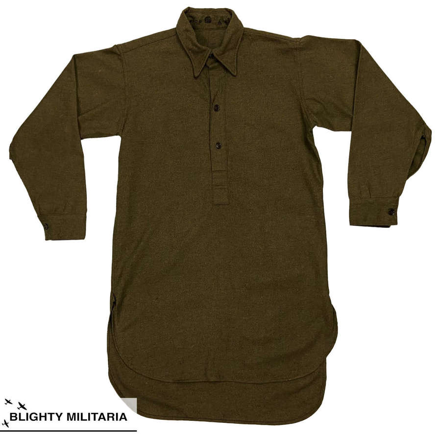 Original British Army Ordinary Ranks Collared Shirt - Size 4