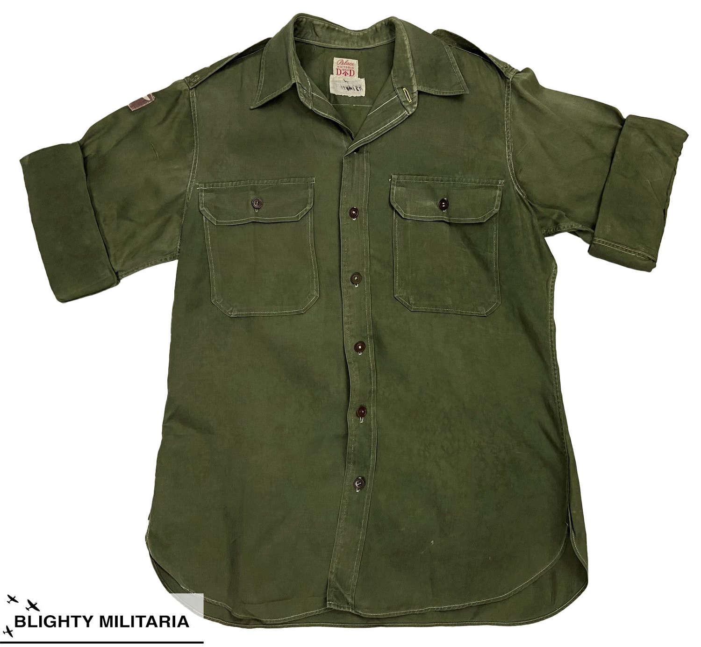 Original 1953 Dated Jungle Green Officers Shirt  - 99th Gurkha Brigade