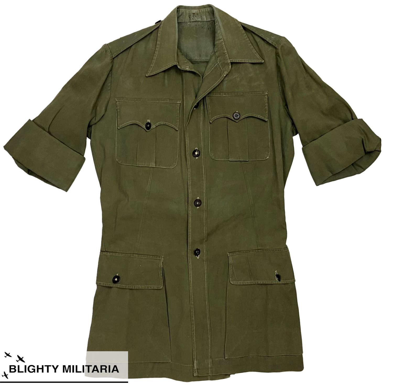 Original 1950s British Officers Jungle Green Bush Jacket