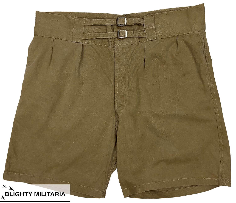 Original 1940s Khaki Drill Shorts - Size 38