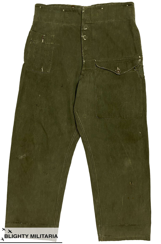 Original 1950s British Army Denim Battledress Trousers