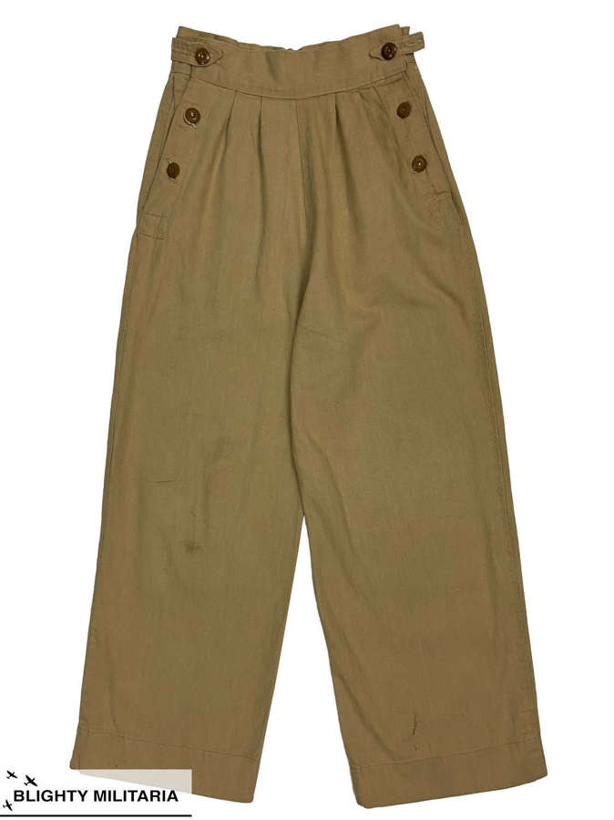 Original WW2 British Nurse / ATS Khaki Drill 'Trousers, Mosquito'