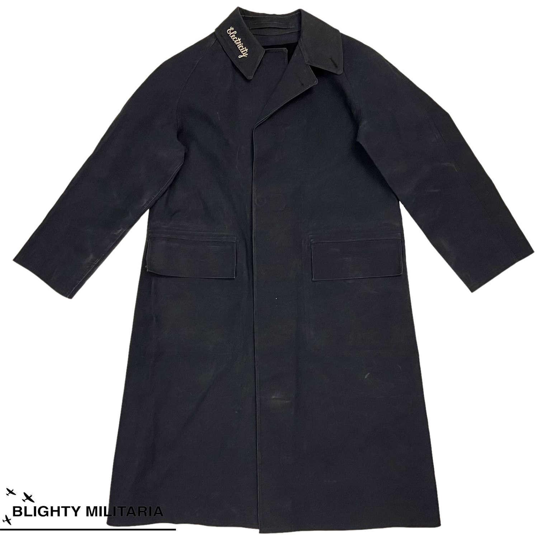 Original 1950s British Electricity Board Rubberised Raincoat